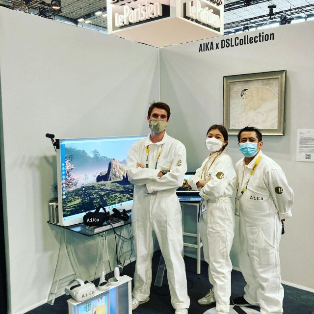 AiKa super team @vivatech to present our lastest VR social platform with @dslcollection  Come and visit amazing booth D42 @beauxarts_magazine @cadaf to discover amazing digital art projects